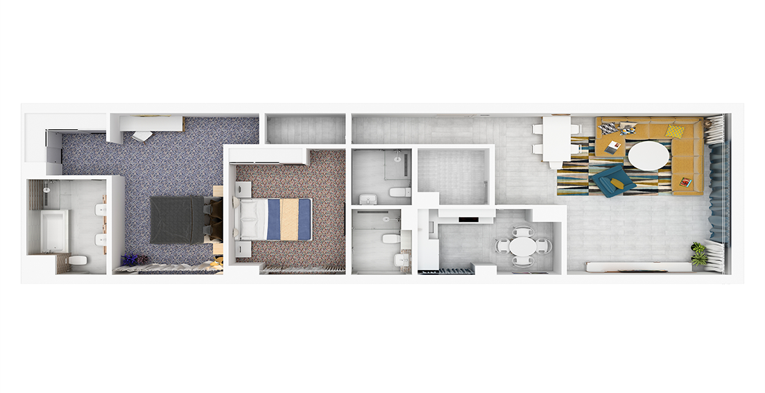 Grenland Residence / Floor Plan 2-Bedroom