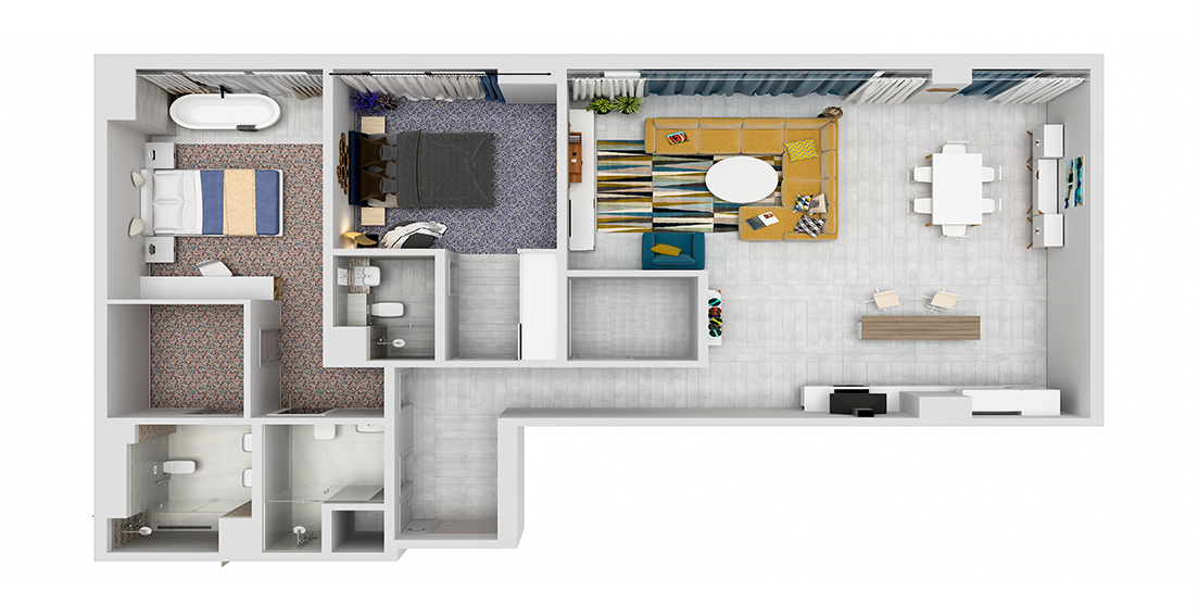 Grenland Residence / Floor Plan 4-Bedroom